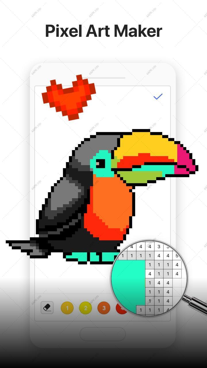 Bixel - раскраска по номерам, взрослых игра v.1.7.6.2 ...