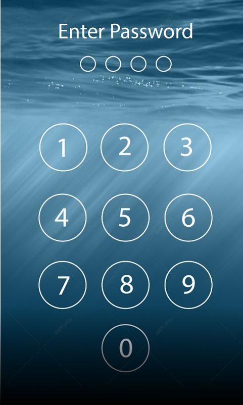 Пароль блокировки экрана screenshot