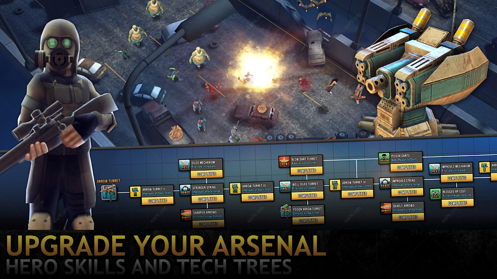 Last Hope TD - Zombie Tower Defense with Heroes screenshot