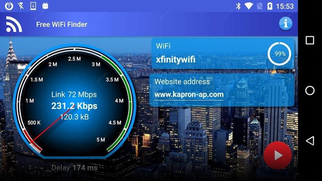 Free WiFi Internet Finder screenshot