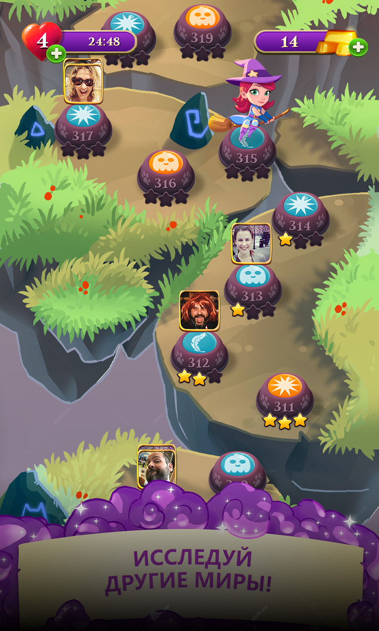 Bubble Witch 3 Saga screenshot