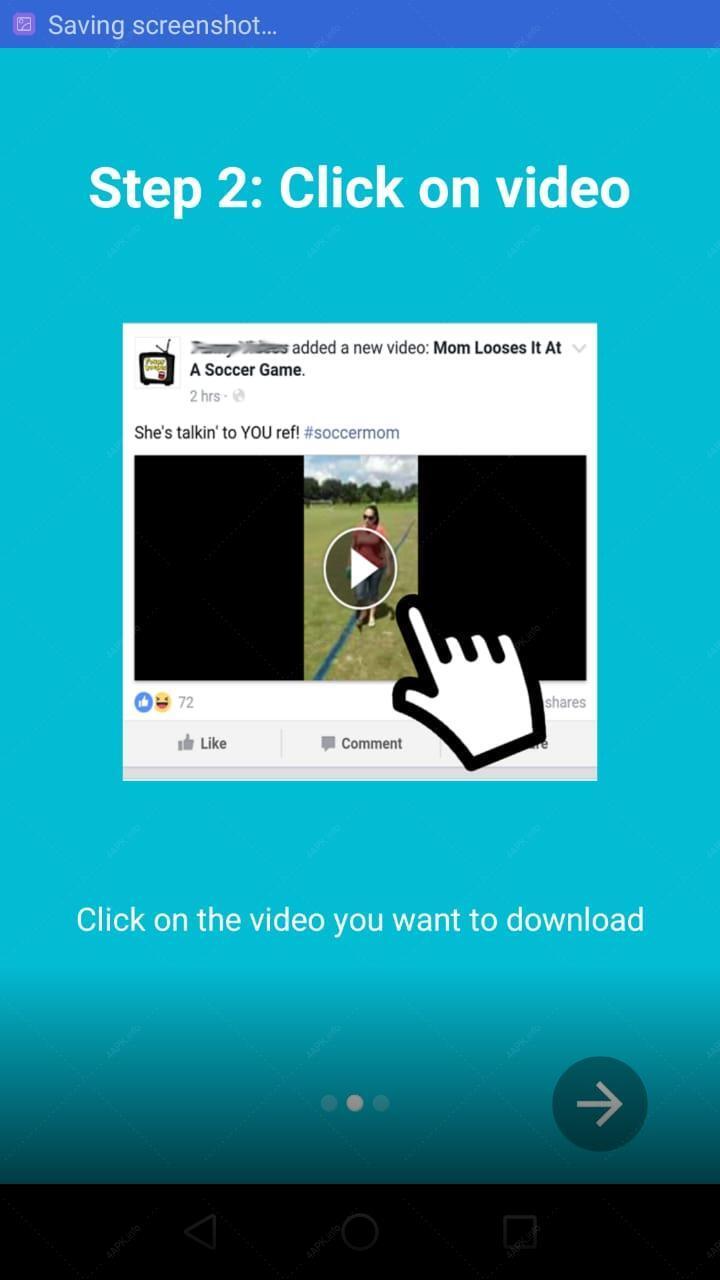 Загрузчик видео для Facebook screenshot