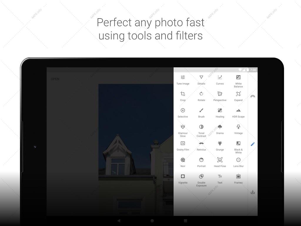 Snapseed фоторедактор screenshot