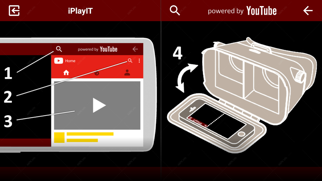 iPlayIT for YouTube VR Player makes any video SBS. screenshot