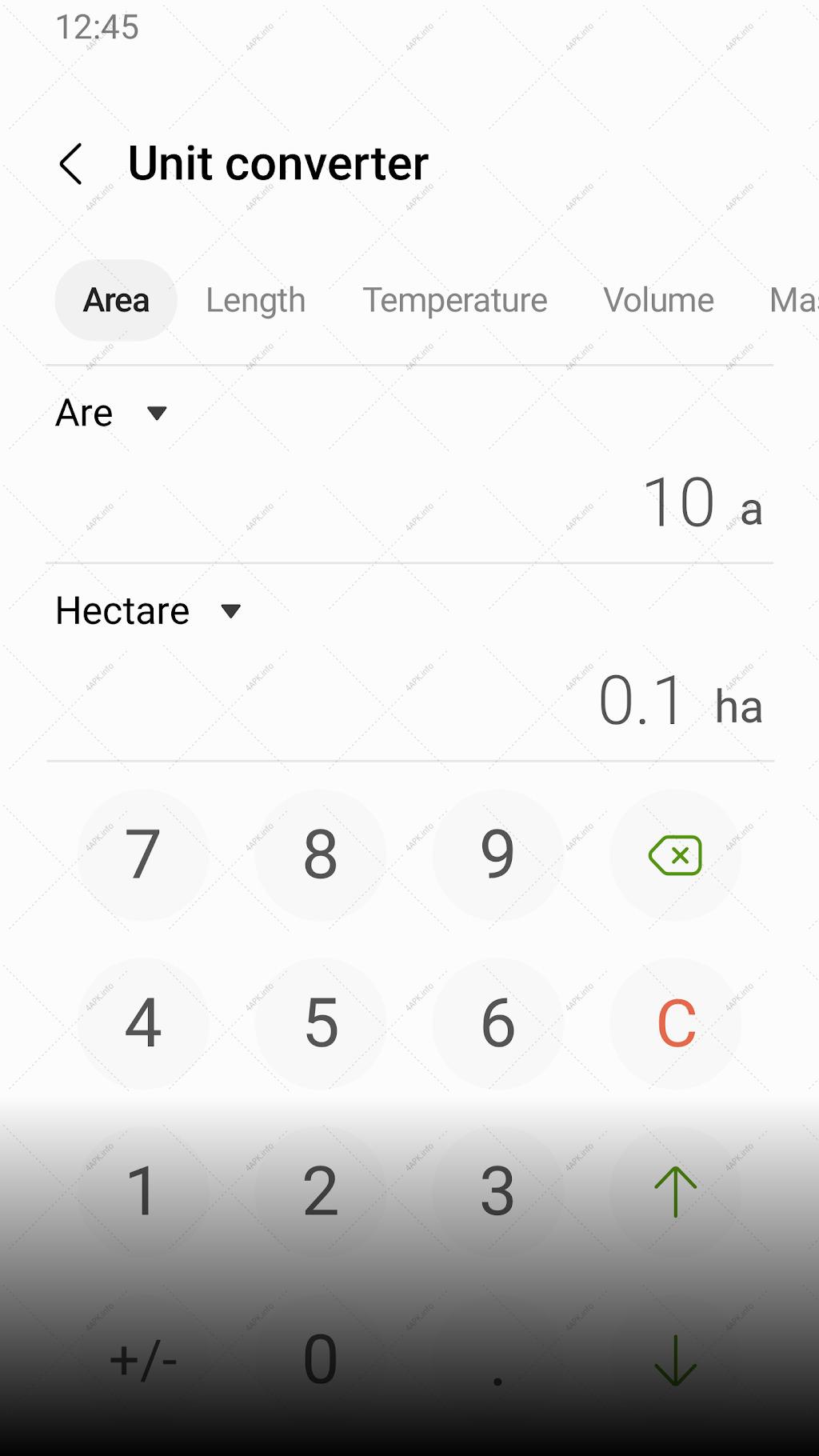 Samsung Calculator screenshot