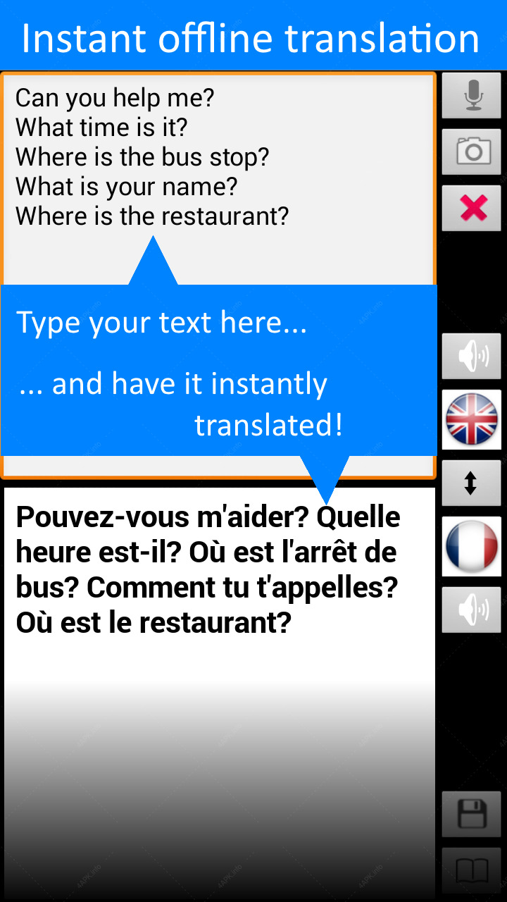 Translate Offline: French Free screenshot