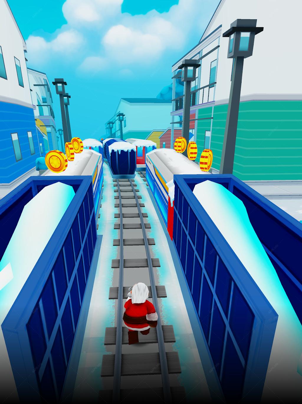 Subway Santa Xmas Surf screenshot