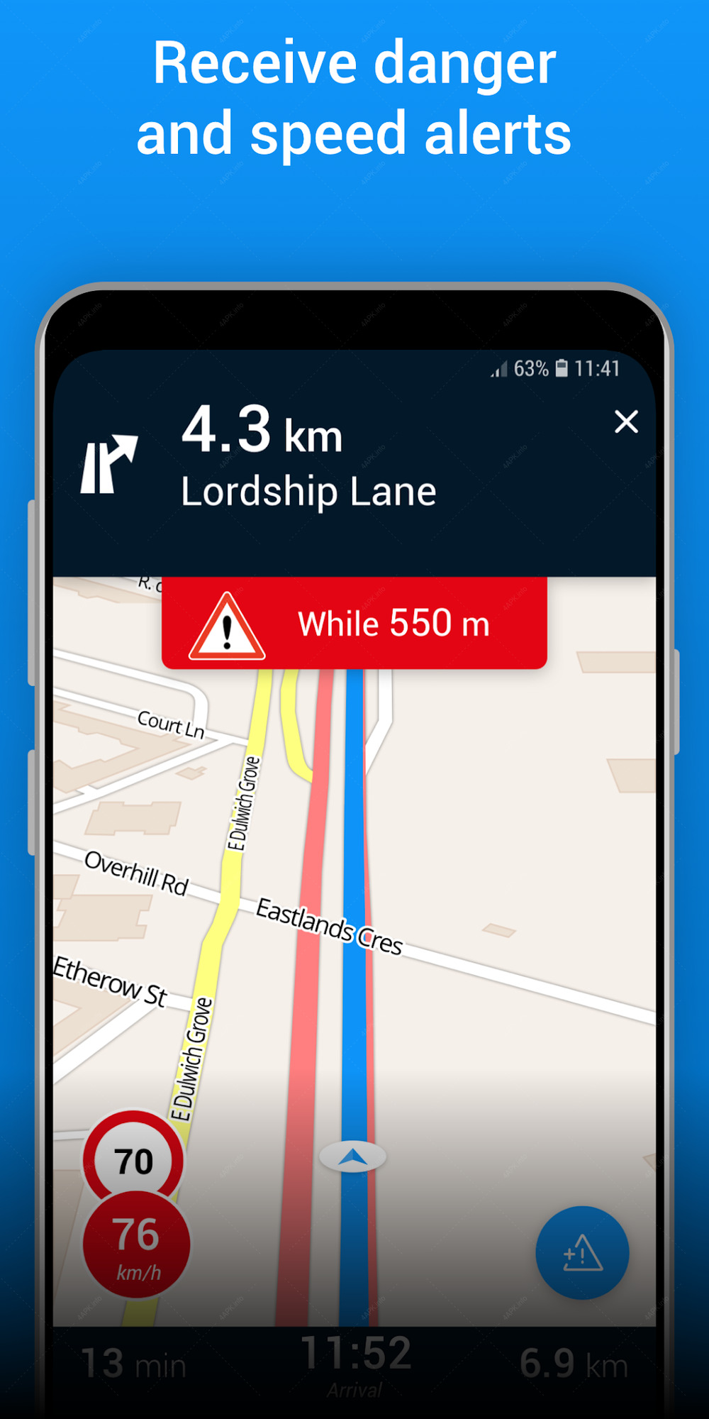 GPS Traffic Speedcam Route Planner by ViaMichelin screenshot