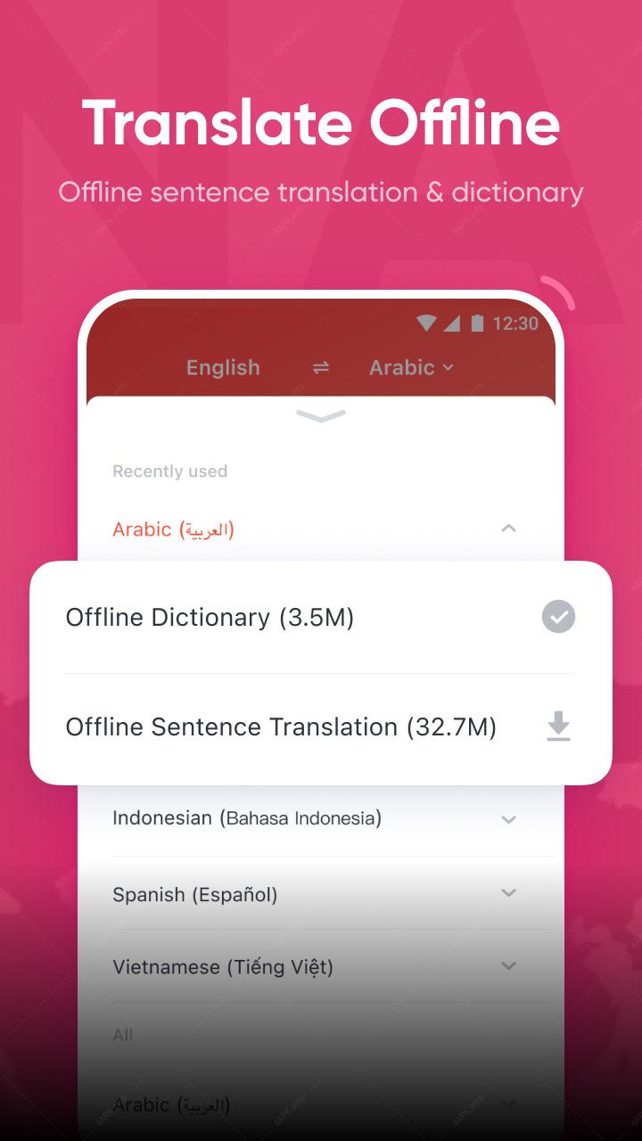 U-Dictionary: переводчик со словарем screenshot