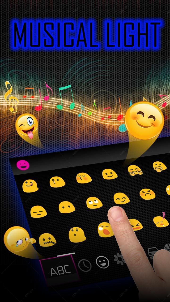 Музыкальный свет клавиатуры screenshot