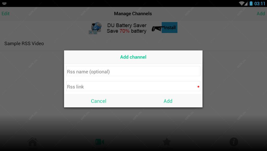 RSS Player screenshot