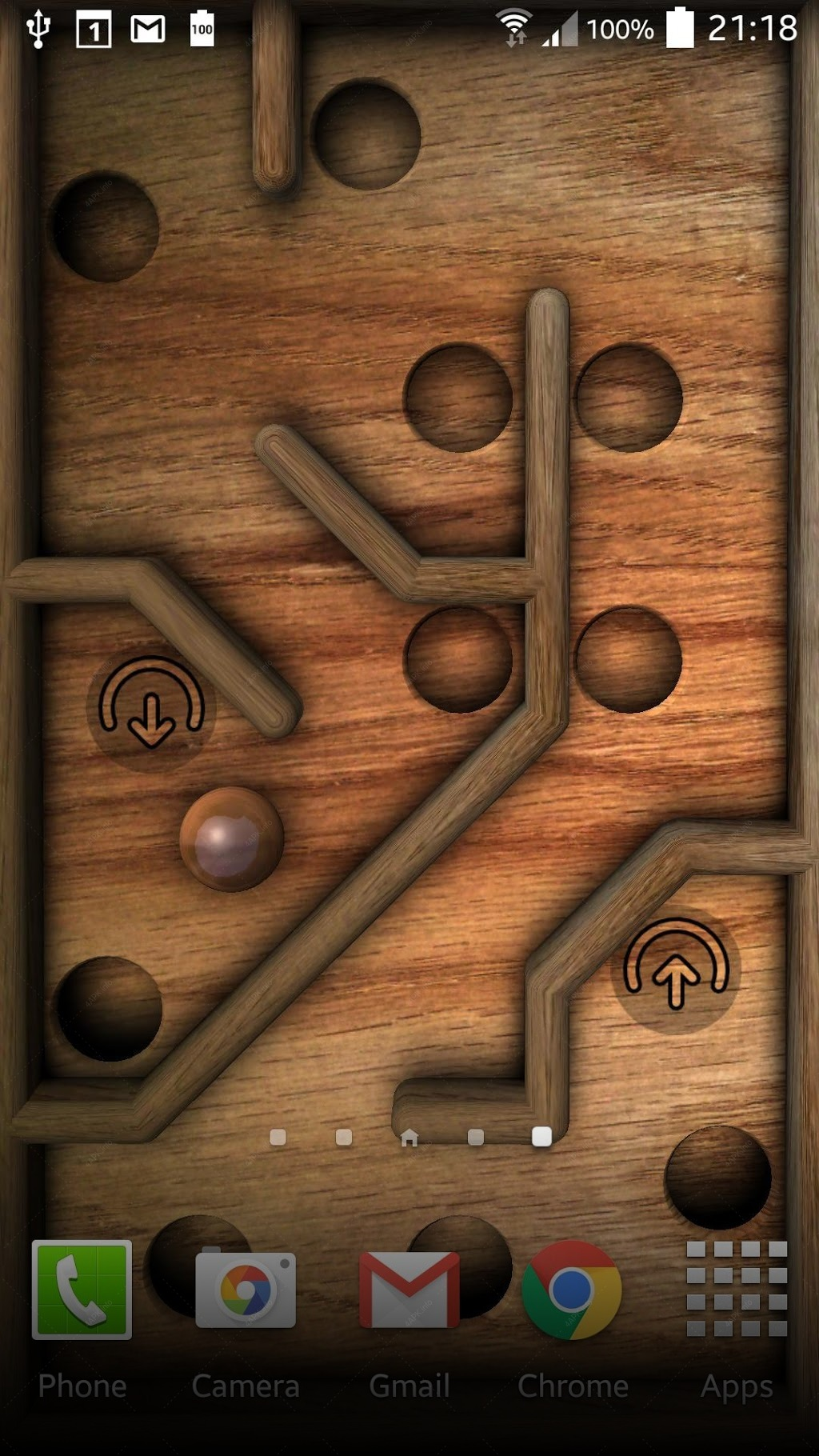 Marble Maze Wallpaper Game screenshot
