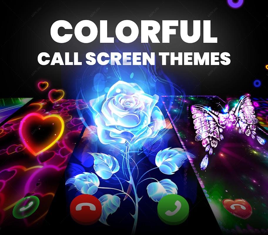 Цветной мигающий телефон - темы экрана вызова screenshot