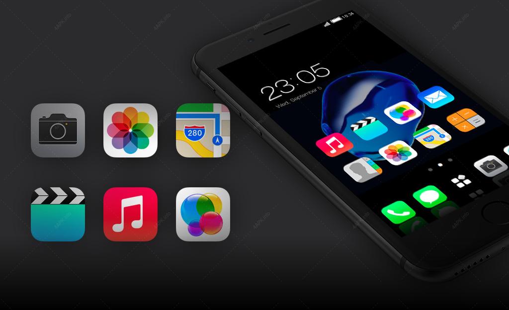 Тема для айфон 7 (iphone 7): Стильный лаунчер screenshot