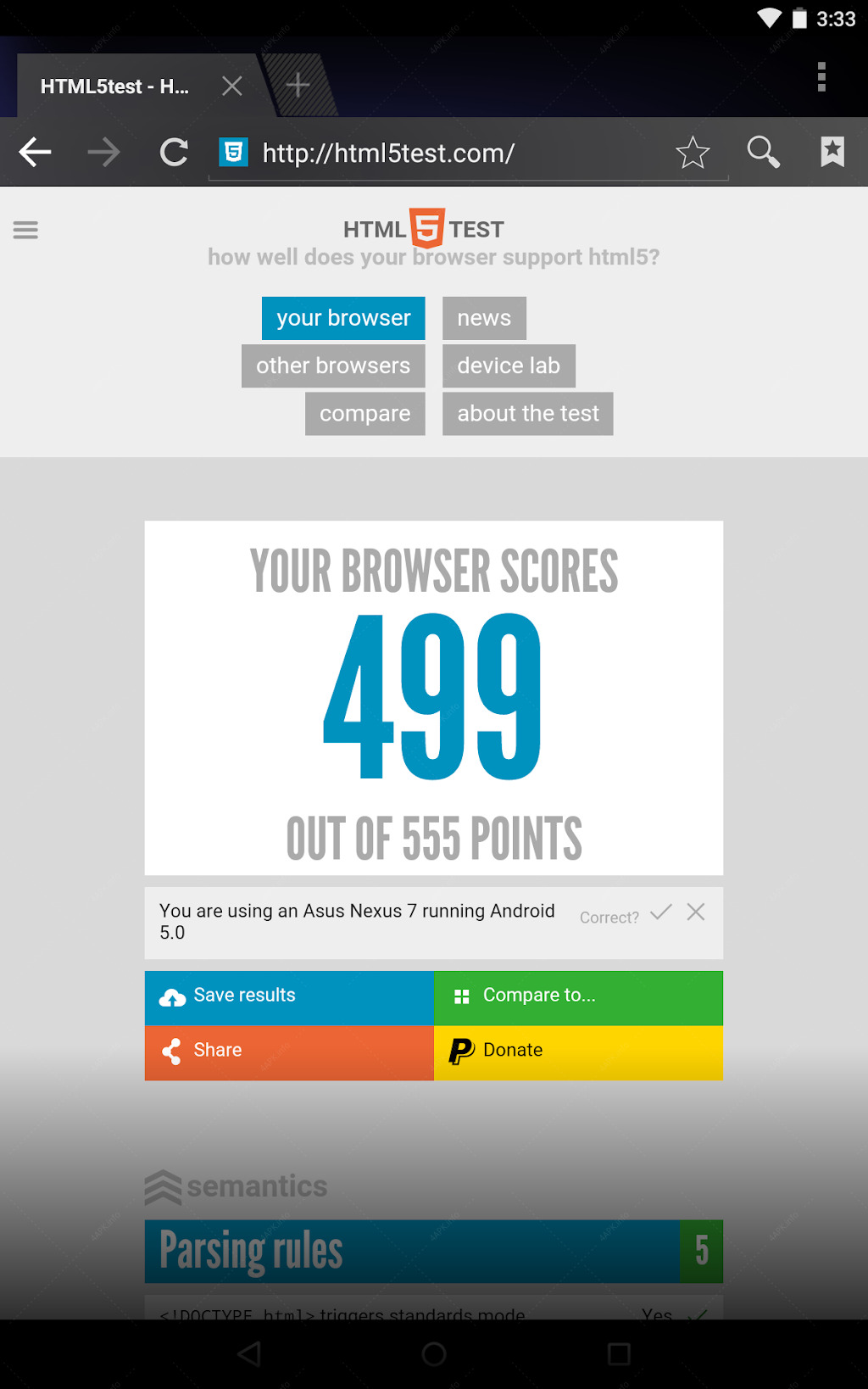 Android System WebView screenshot