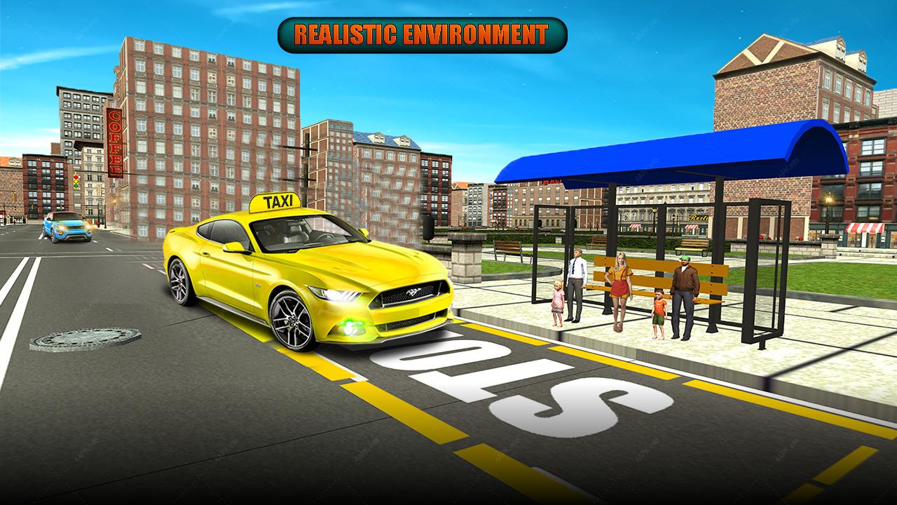 Такси 2 3д симулятор такси в стиле gta // игры на андроид.