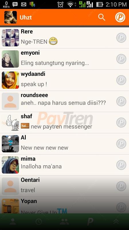 Paytren Messenger screenshot