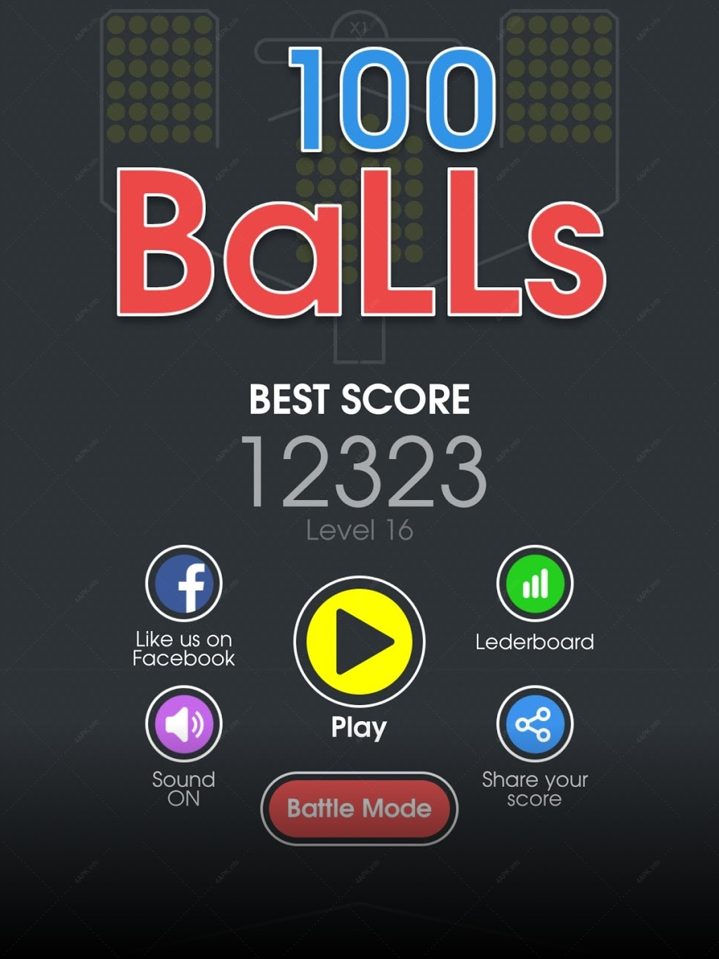 100 Balls - Tap to Drop the Color Ball Game screenshot